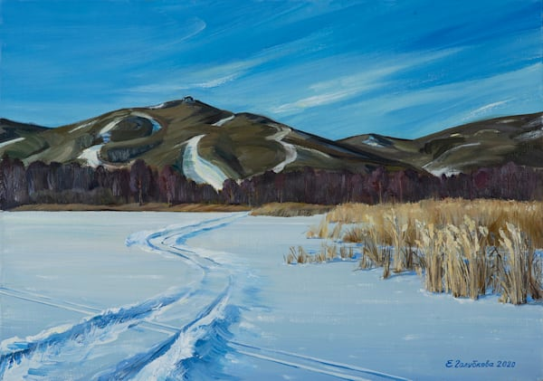Winter Day On The Lake Art | Contemporary Art Gallery Online