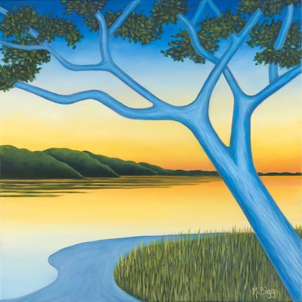 """Just After Sunset"" Oil On Canvas Art | Margaret Biggs Fine Art"