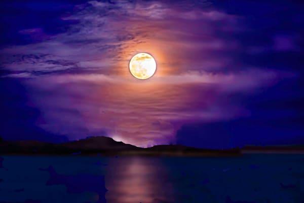 Full Pink Moon Photography Art | Silver Spirit Photography