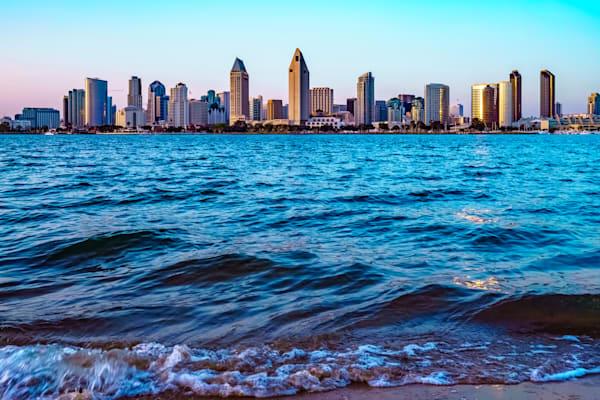 San Diego Skyline From Coronado Island Fine Art Print