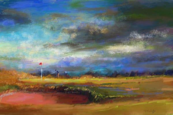 St. Andrews golf painting   Sports artist Mark Trubisky   Custom Sports Art