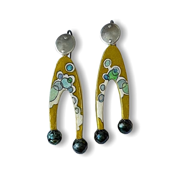 """Radiolaria And Faceted Pearls"" Earrings | smalljoysstudio"