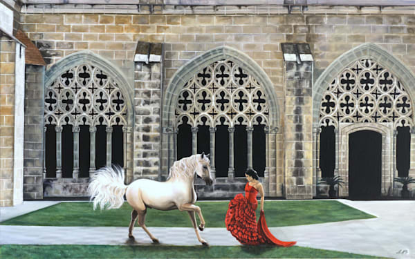Equestrian Cloisters | Original Oil Painting Art | MMG Art Studio | Fine Art Colorado Gallery