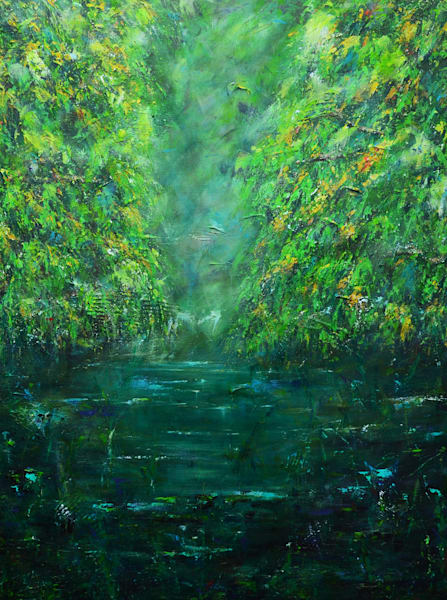 California Lagoon – Tree Painting - Fine Art Prints on Canvas, Paper, Metal & More
