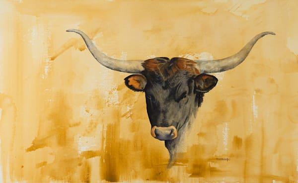 Longhorn   Watercolor Art   Raymond Wattenhofer