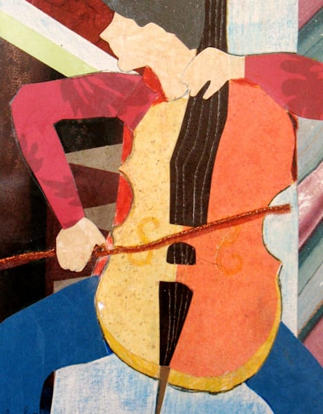 Cellist by Ann Calandro, an American Collagist and Photographer