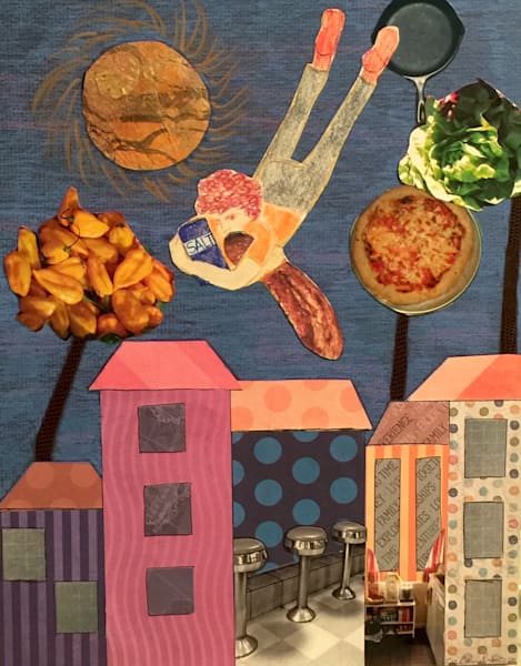 Bringing Bread and Salt by Ann Calandro, an American Collagist and Photographer
