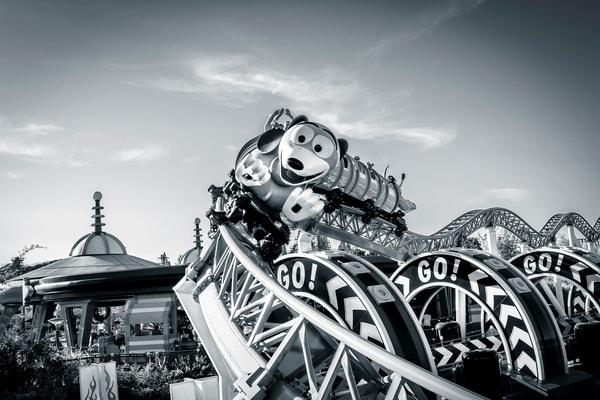 Slinky Dog Dash 1 Black And White Photography Art | William Drew Photography