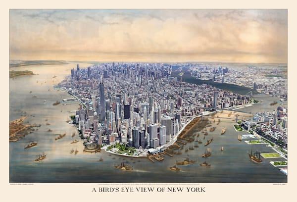 A Bird's Eye View Of New York 1851 Art | Mark Hersch Photography