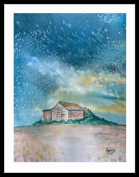 """Glitters"" in Watercolors by Aprajita Lal (Original 10.5X8.5)"