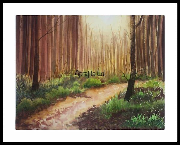 """""""Enchanted"""" in Watercolors by Aprajita Lal (Original 8x10.5)"""