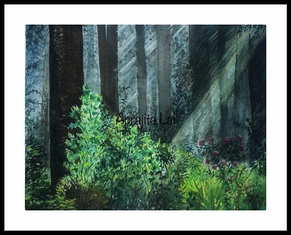 """""""Rays 2"""" in Watercolors by Aprajita Lal (Original 8x10.5)"""