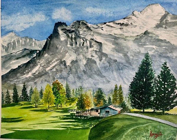 """""""Alpine Valley"""" Art Print by Aprajita Lal"""