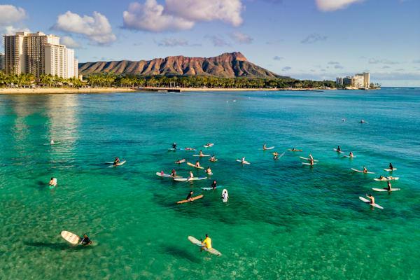 Surfers at Waikiki