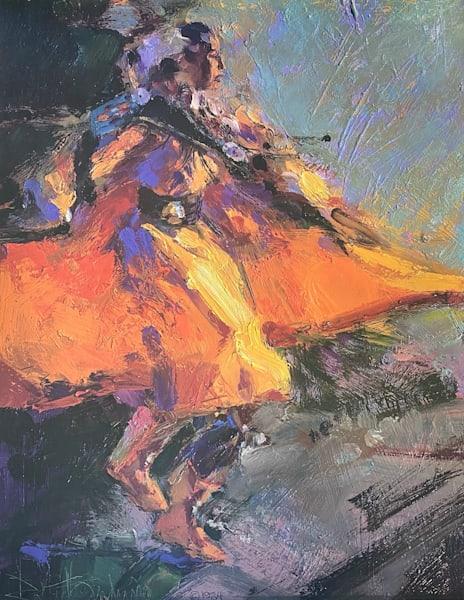 Fancy Dancer With Orange Leggings  Art | robertorduno