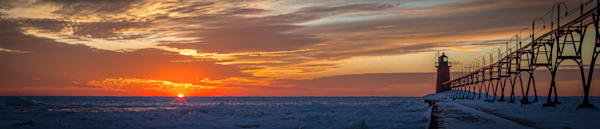 Winter Sunset In South Haven Photography Art | Ursula Hoppe Photography