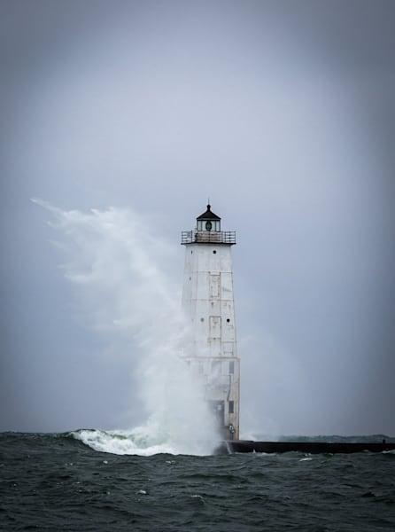 Frankfort Lighthouse Photography Art | Ursula Hoppe Photography