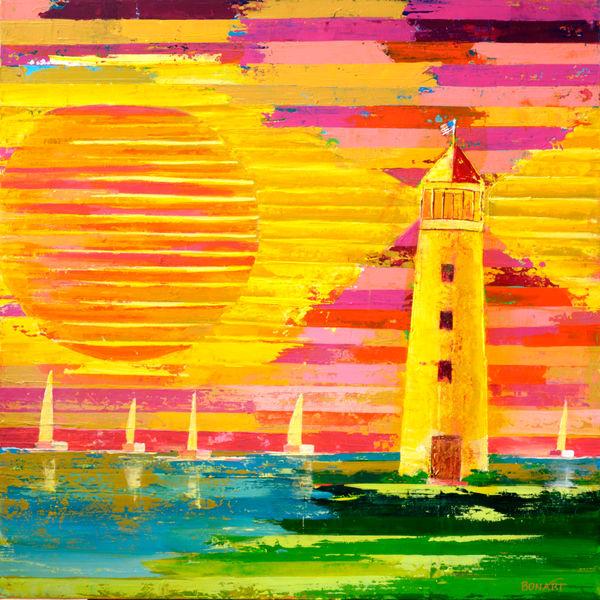 Lighthouse Sun  Art   benbonart