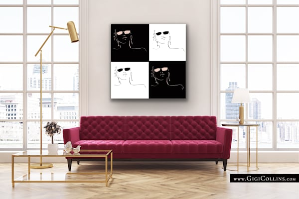 Four Limited Edition Gallery Wrap Art | Gigi Collins Art