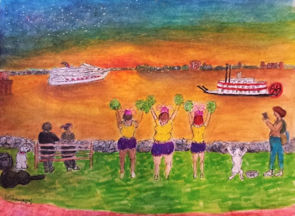 Bon Voyage, Moonwalk Eveneing Art | New Orleans Art Center