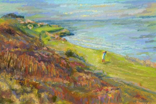 Whistling Straits golf painting   Sports artist Mark Trubisky   Custom Sports Art