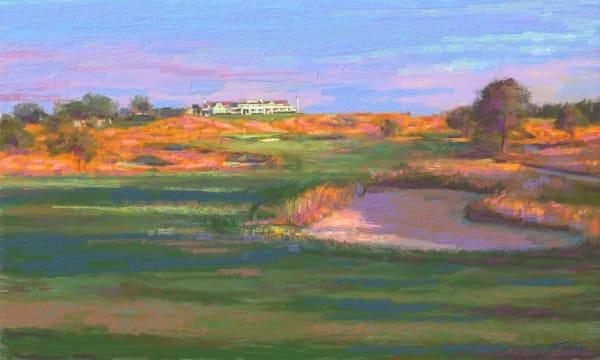 Shinnecock Hills golf painting   Sports artist Mark Trubisky   Custom Sports Art