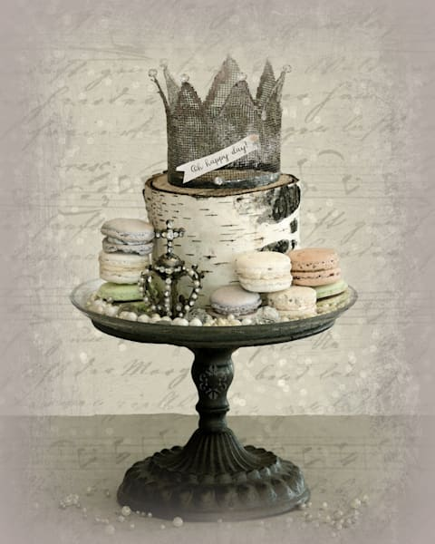 Oh Happy Day Crown & Macaroons Embellished Art