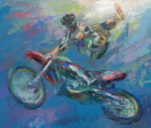 Freestyle motorcross painting | Sports artist Mark Trubisky | Custom Sports Art