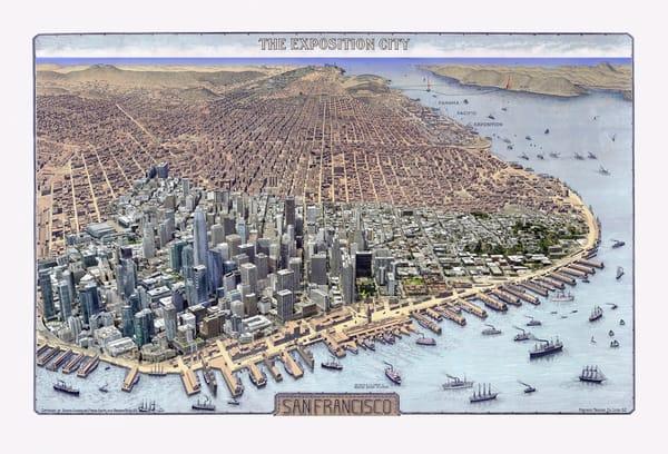 San Francisco The Exposition City 1912 Art | Mark Hersch Photography