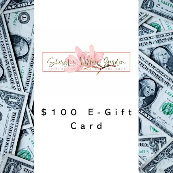 Sheryl's Virtual Garden $100 E Gift Card | Sheryl's Virtual Garden