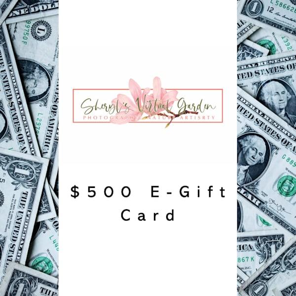 Sheryl's Virtual Garden $500 E Gift Card | Sheryl's Virtual Garden