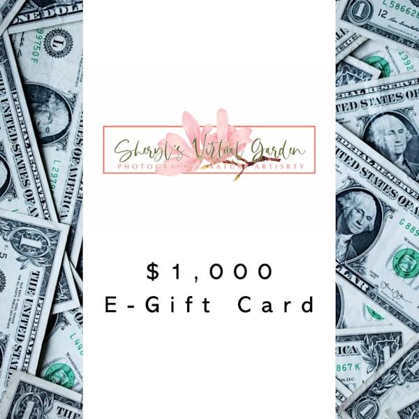 Sheryl's Virtual Garden $1000 E Gift Card | Sheryl's Virtual Garden
