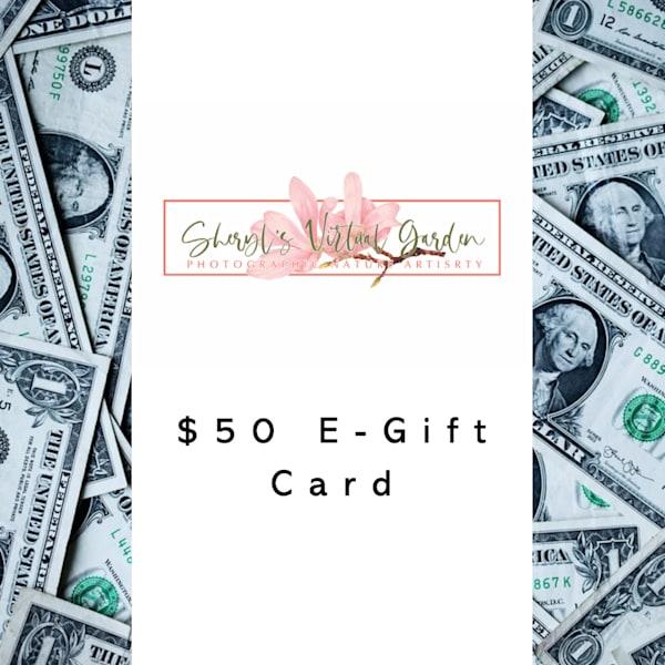 Sheryl's Virtual Garden $50 E Gift Card | Sheryl's Virtual Garden