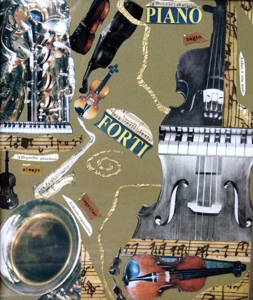 Concerto in E Minor by Ann Colandro, an American Collagist and Photographer