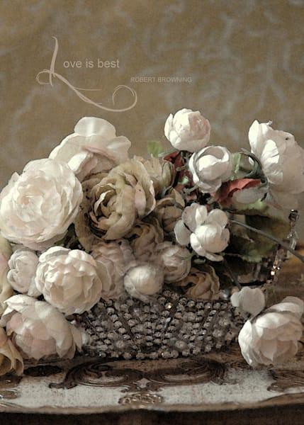 EMBELLISHED ROSES & CROWN ART
