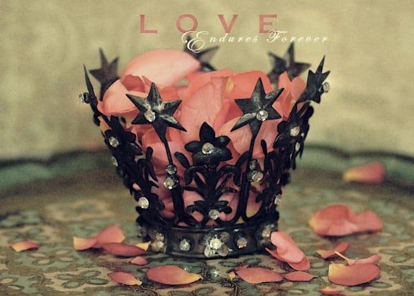 EMBELLISHED CROWN Love Endures Forever Art