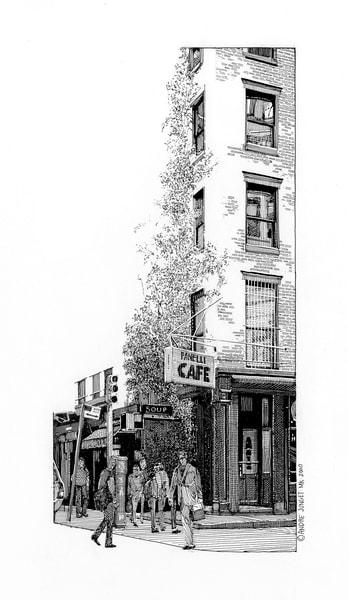 Fanelli Cafe Art | Andre Junget Illustration LLC
