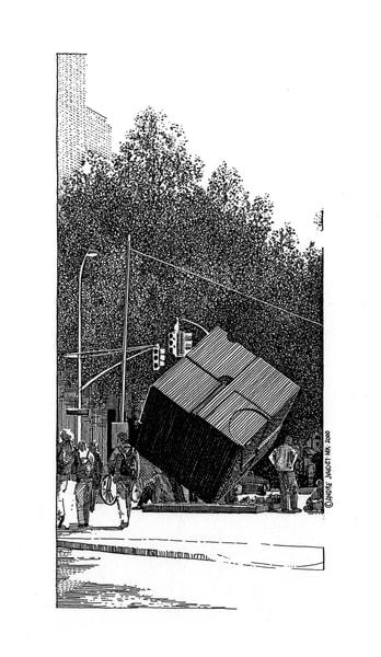 St. Marks Cube, Nyc Art | Andre Junget Illustration LLC