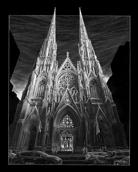 St. Patricks, Nyc Art | Andre Junget Illustration LLC