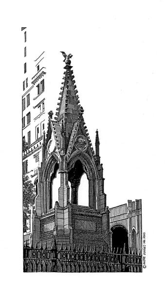 Tribeca Steeple, Nyc Art | Andre Junget Illustration LLC