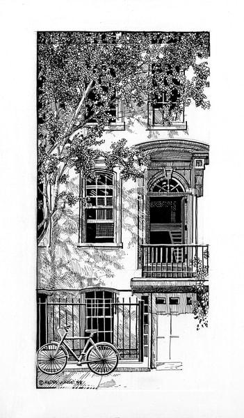 West Village Stoop, Nyc Art | Andre Junget Illustration LLC