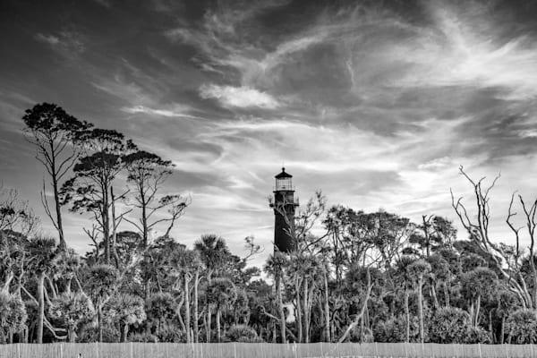 Lighthouse Sunset Bw Photography Art   Willard R Smith Photography
