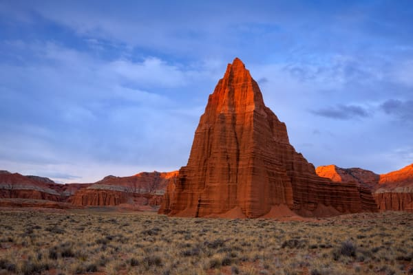 Cathedral Valley Sunrise Glow Photography Art | Johnny Adolphson Photography