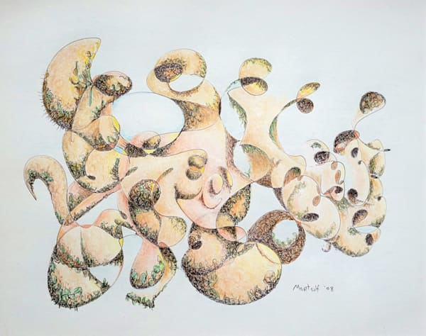 Joe the Boulder - Original Ink and Colored Pencil Drawing on Paper