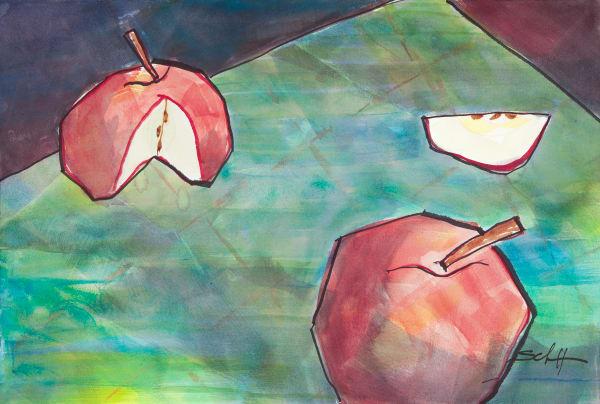 Two Apples Art | Elaine Schaefer Hudson Art