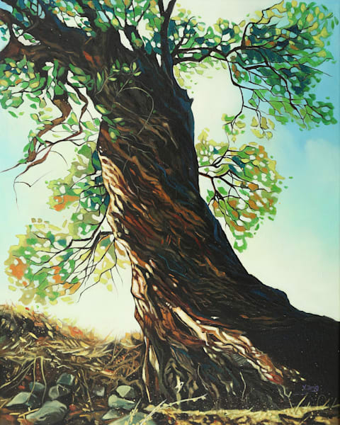 Big Tree by Yue Zeng an Chinese American painter.