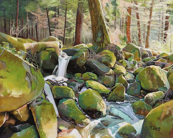 Creek Rocks by Yue Zeng an Chinese American painter.