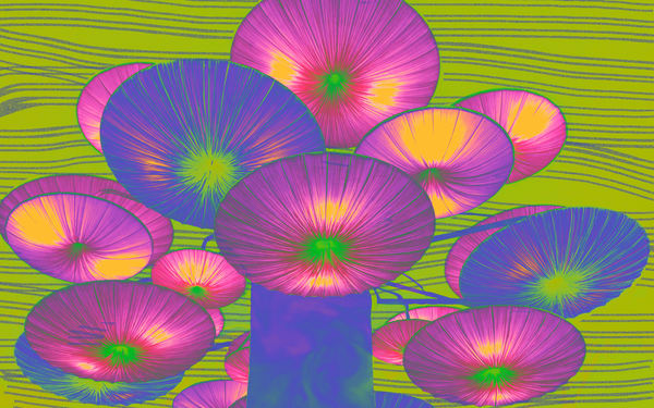 La.Umbrellas.Yellow Art | Glenn McDaniel Arts, LLC