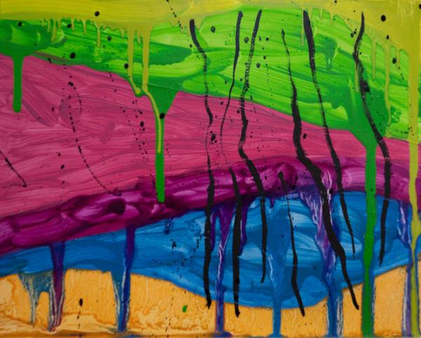 0203012021.Color Drips.8x10 Art | Glenn McDaniel Arts, LLC