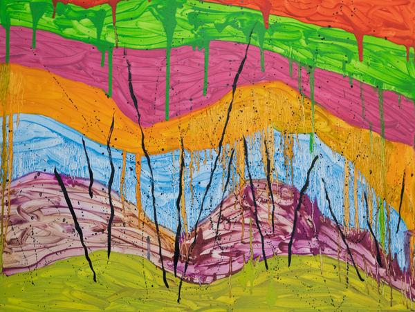 0206012021.Color Drips.18x24 Art | Glenn McDaniel Arts, LLC